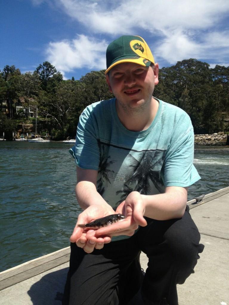 Andrew fishing