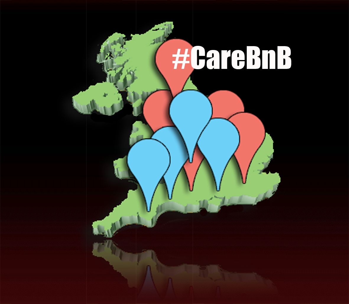 #CareBnB Map of the UK